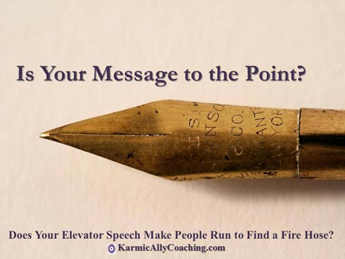 Is your Elevator Pitch message to the point?
