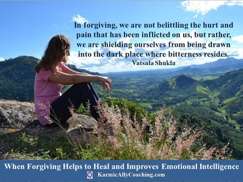 In forgiving, we are not belittling the hurt and pain that has been inflicted on us