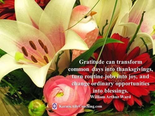 Gratitude quote that shows how little things too can be a blessing