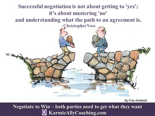 Negotiation works to build bridges