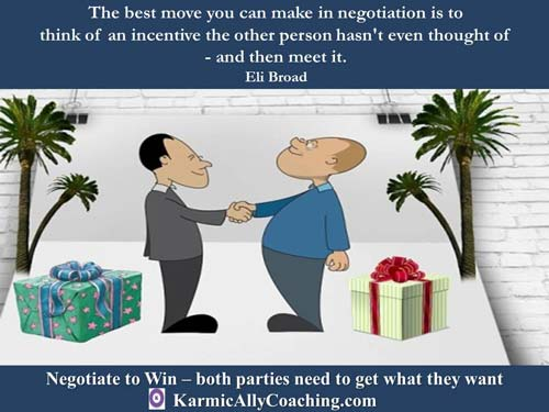 Tip for successful negotiations