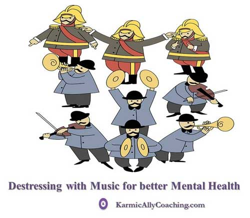 De-stress with music for better mental health