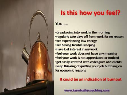 Kettle whistle blowing signs of burnout