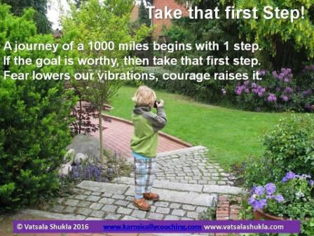 Take that first step quote