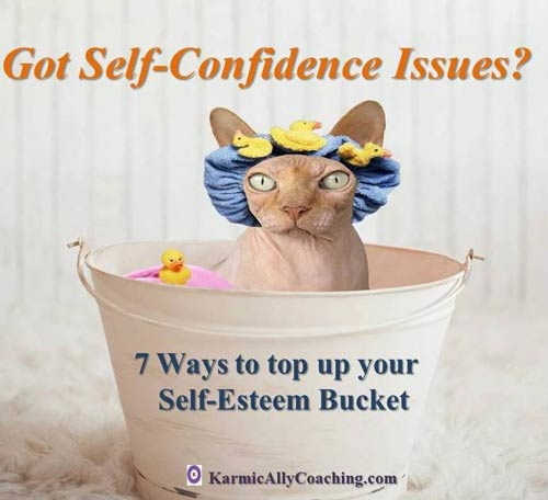 Self confidence issues lead to a leaky self-esteem bucket