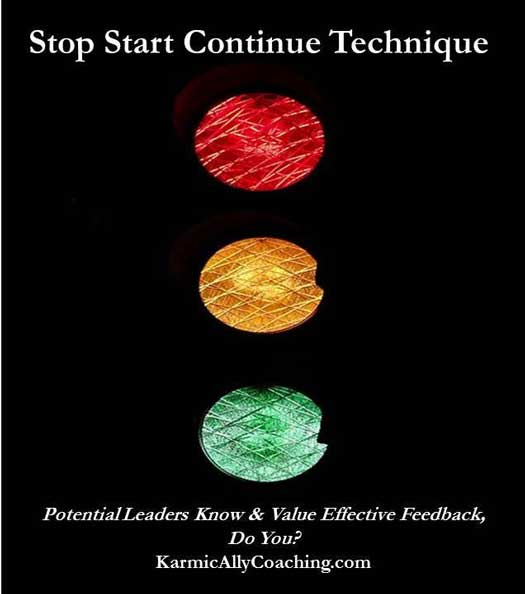 Stop Start Continue Feedback Technique