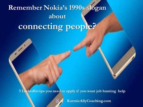 Networking and Nokia slogan