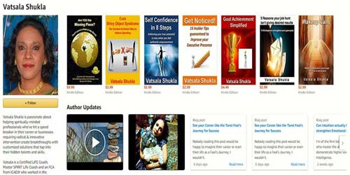 Vatsala Shukla's author page on Amazon
