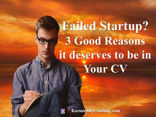 Should you include a failed startup in your CV?