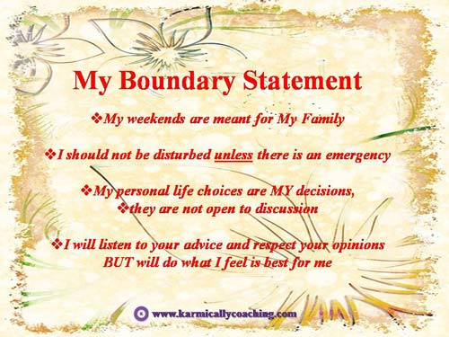 Elements of my boundary statement on floral paper
