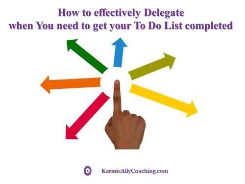 How to effectively delegate a to do list