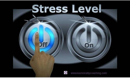 switching off stress button with Karmic Ally Coaching