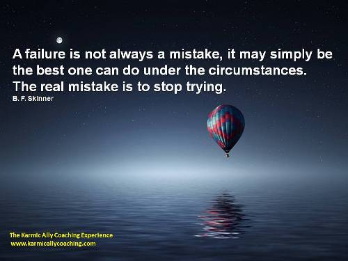 Failure is not always a mistake