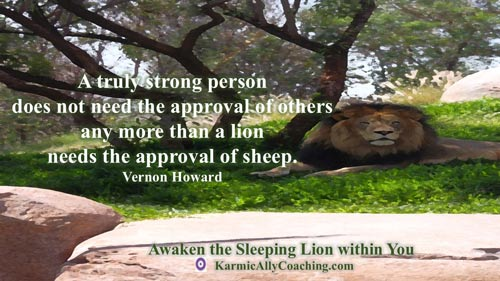 Lions don't look to sheep for validation and neither do strong people