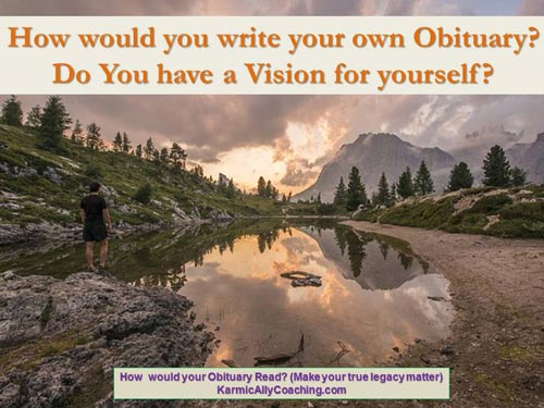 Your obituary as a vision tool