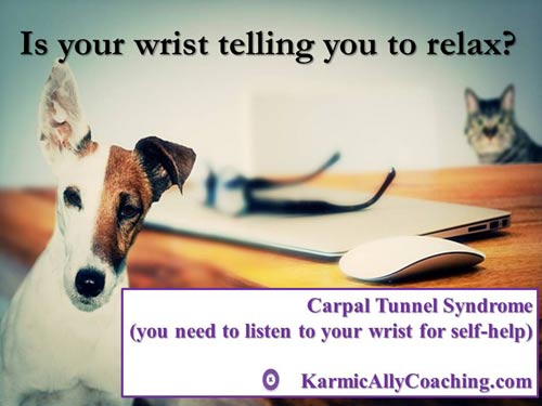 Even dogs know about carpal tunnel syndrome