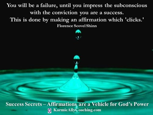 Florence Scovel Shinn quote on affirmations