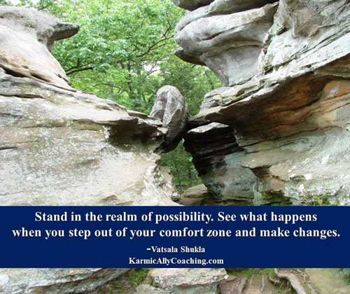 Stand in the realm of possibility