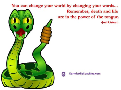 Change your world with your words