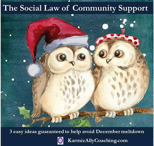Social law of community support
