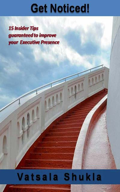 Cover of Get Noticed with red carpet on stairs leading to the sky