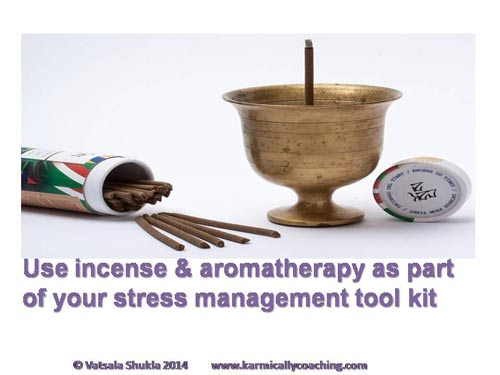 burning incense and aromatherapy for stress management