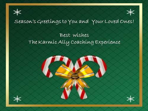 Christmas Greetings from The Karmic Ally Coaching Experience