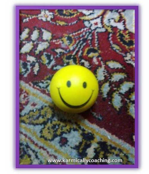 Smiley ball for reducing stress