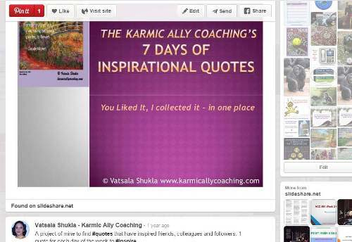 The Karmic Ally Coaching's 7 days of inspirational quotes