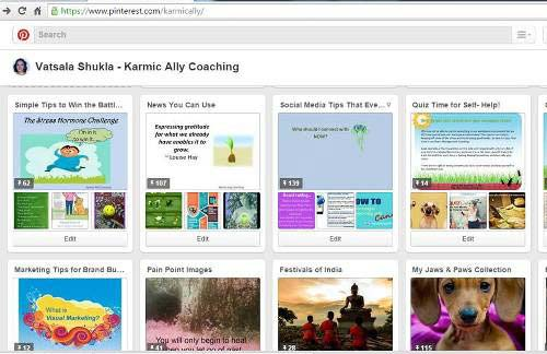 Selection of Karmic Ally Coaching Boards on Pinterest