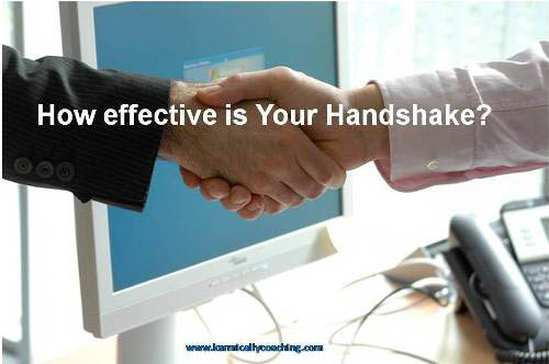Firm handshake after a business meeting