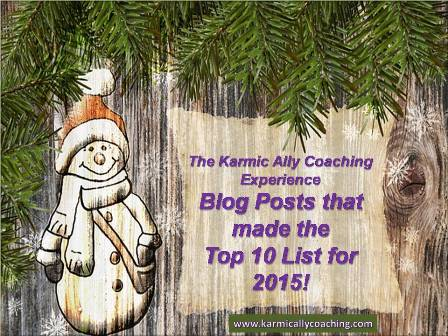 Snowman with poster on wooden tree Top 10 blog posts 2015