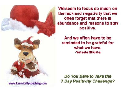 Reindeer with gratitude quote from Vatsala Shukla
