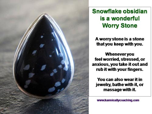 Snowflake obsidian pendant is a good Worry Stone