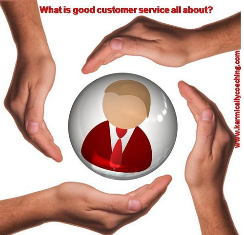 hands caring for customer