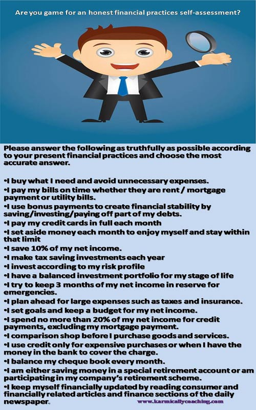 Financial Literacy Self Assessment Karmic Ally Coaching