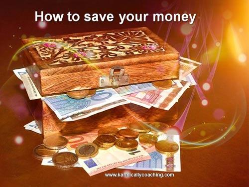 Enamel box full of money