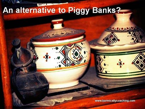 Jars as piggy banks