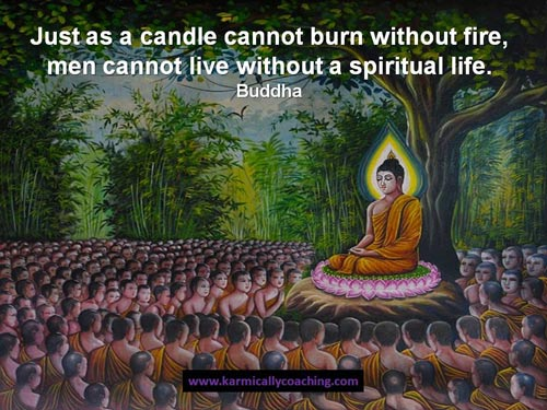 Buddha teaching about spiritual life