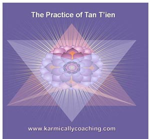 The practice of Tan T'ien or Dantien to store extra meditation generated energy