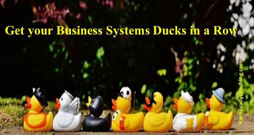 Get your business ducks in a row