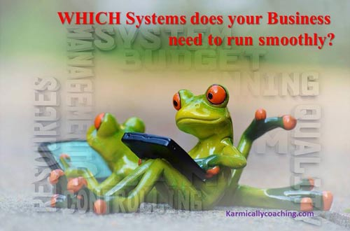 Business frogs checking their system requirements