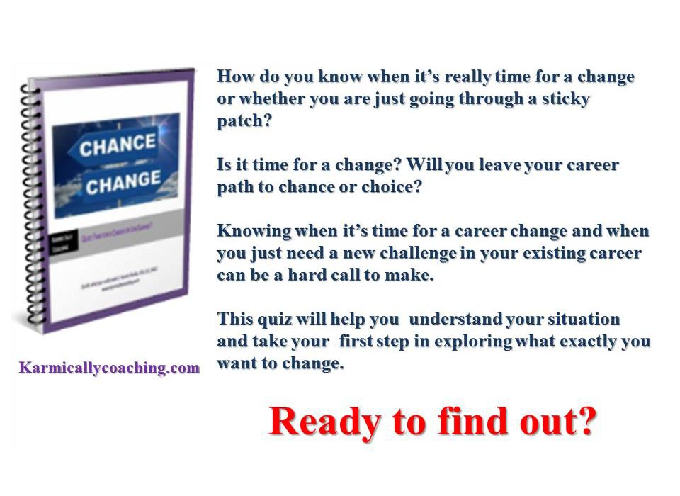 quiz  time for a career or job change