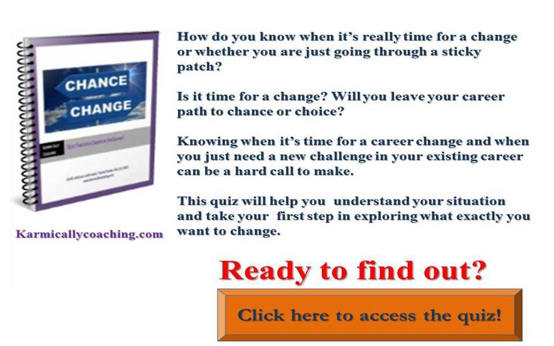 Quiz for finding out job or career change