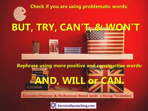 Rephrase problem words with more effective ones