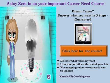 Karmic Ally Coaching's mini course on job and career need