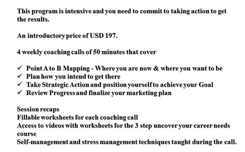 Details of new Career Coaching Program