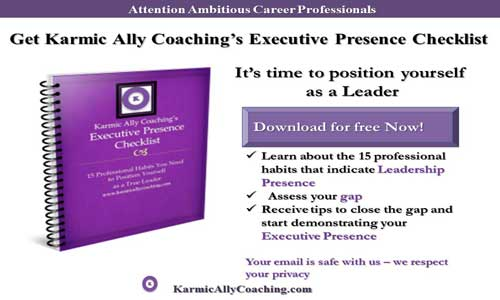 Karmic Ally Coaching's Executive Presence Checklist