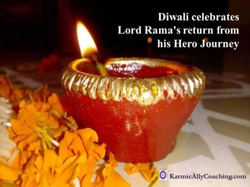 Diwali celebrating Lord Rama's return
