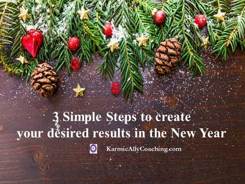 How to create your desired results in the New Year